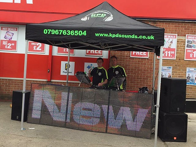 Custom made DJ Gazebo for your custom made entertainment from KPD Sounds Derby & Nottingahm